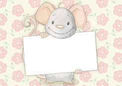 "Muisje ""Zomaar""– enkele kaart 14,8cm x 10,5cm €1,50 bestellen via www.jokeeycken.be/mousealacarte of jokeeycken@hotmail.com"